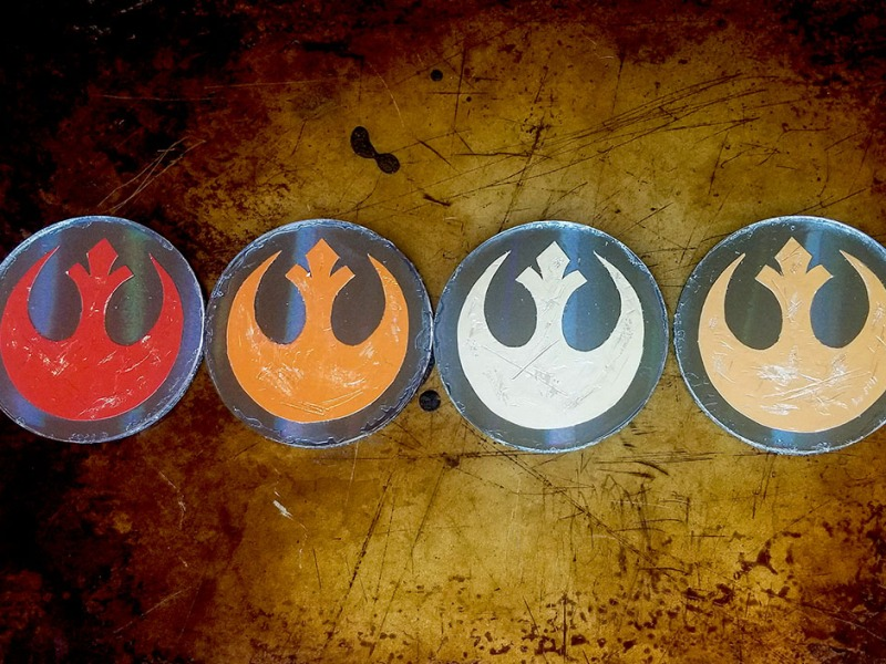 star wars resistance emblem themed coasters