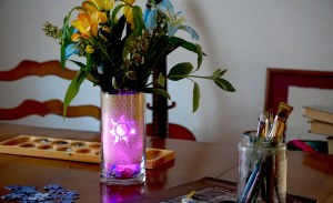 tangled rapunzel themed glowing vase