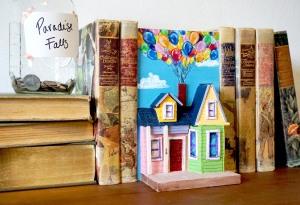 pixar up themed house diorama