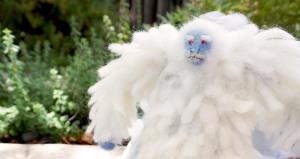 Disneyland matterhorn yeti abominable snowman needle felting