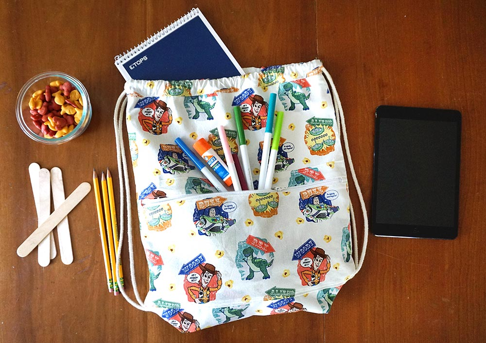 Disney Pixar Toy Story pull string backpack