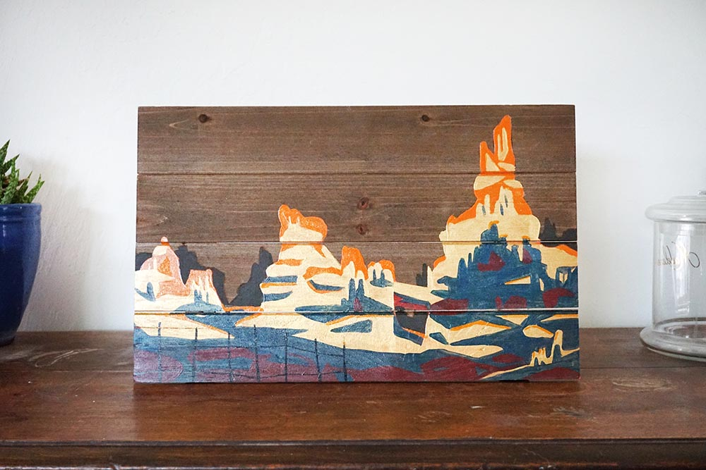 Disneyland Big Thunder Mountain vista wall art painting