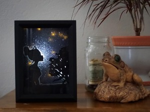Disney Tiana Princess and the Frog inspired shadow box night light