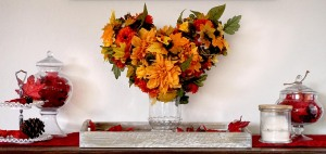 Hidden Mickey Fall Autumn Floral Ball Home Decor