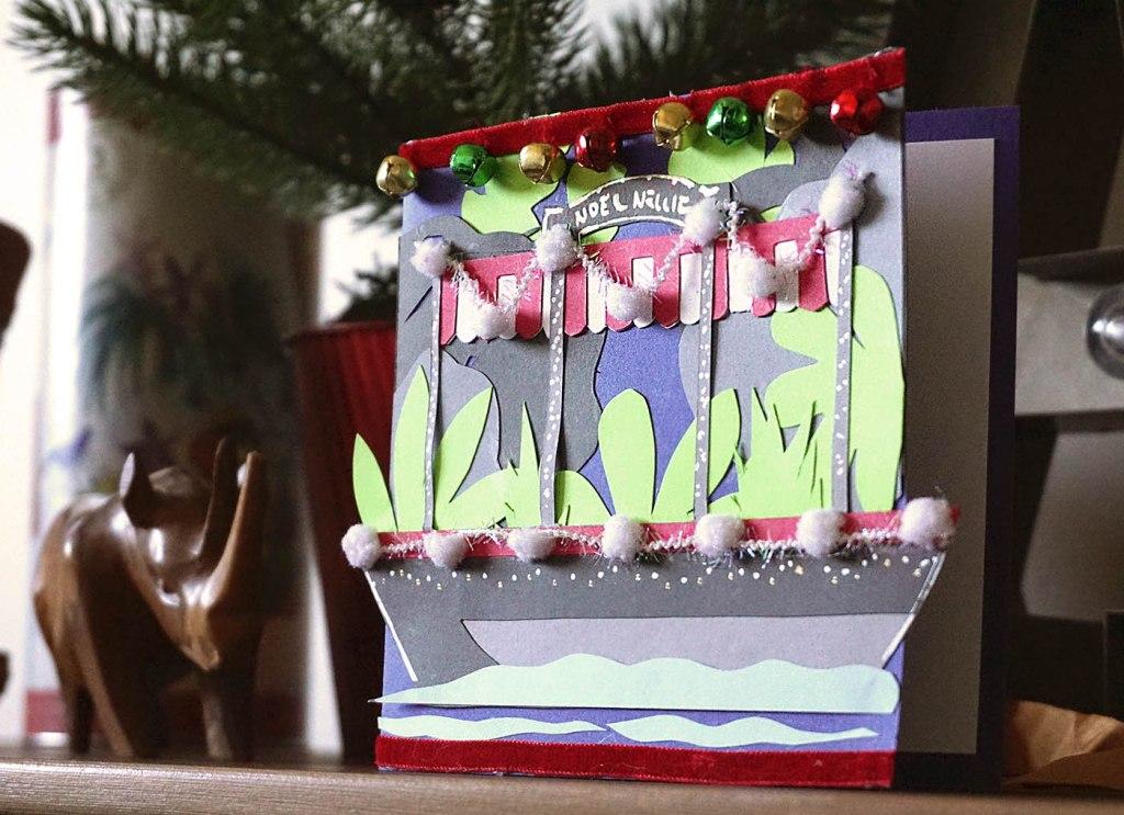 Jungle Jingle Cruise Inspired Christmas Card DIY