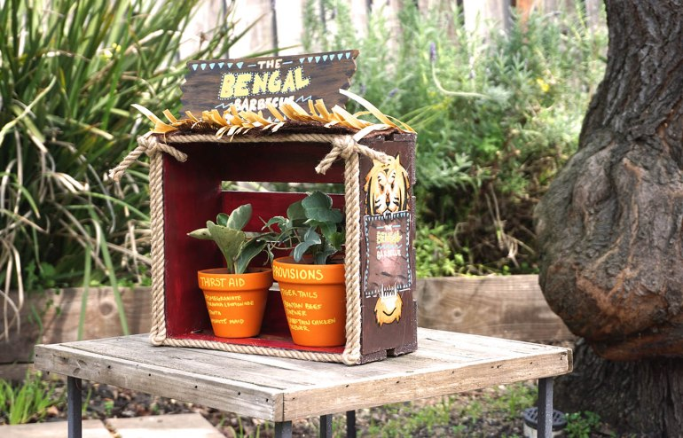Disneyland Restaurant The Bengal Barbecue inspired Adventureland Planter