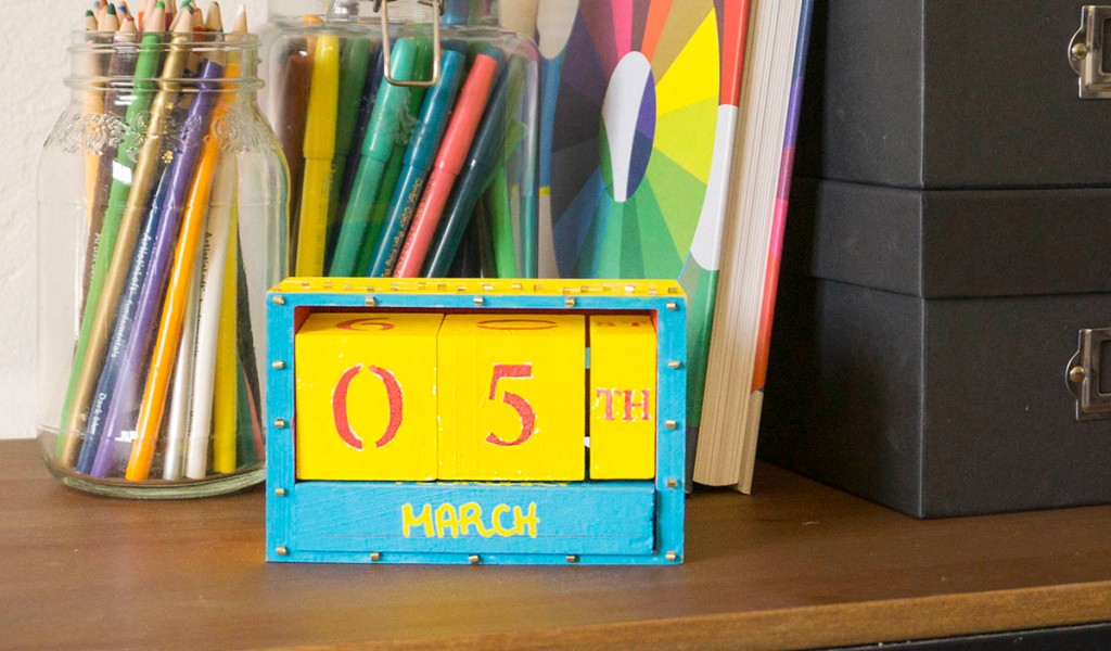pixar pier inspired block calendar