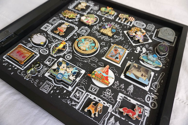 Disney Pin Trading; Pin Display Shadowbox