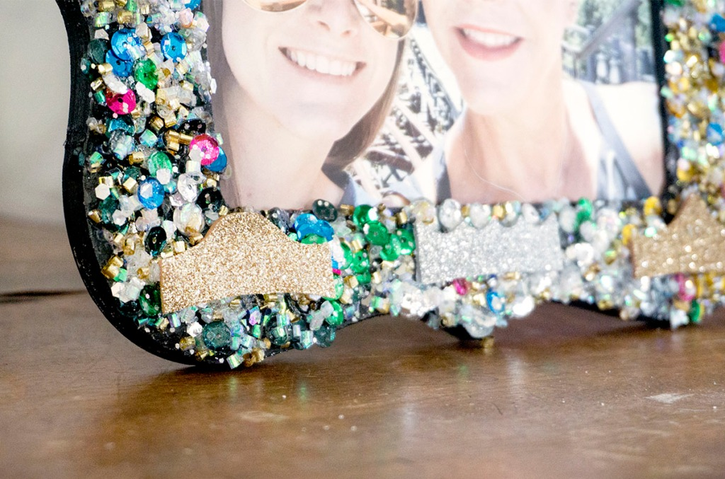 Disney Princess Inspired Glitter and Sequin Picture Frame DIY