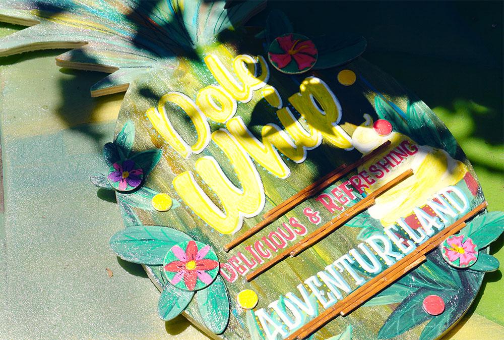 Disneyland Adventureland inspired Dole Pineapple Whip Sign DIY