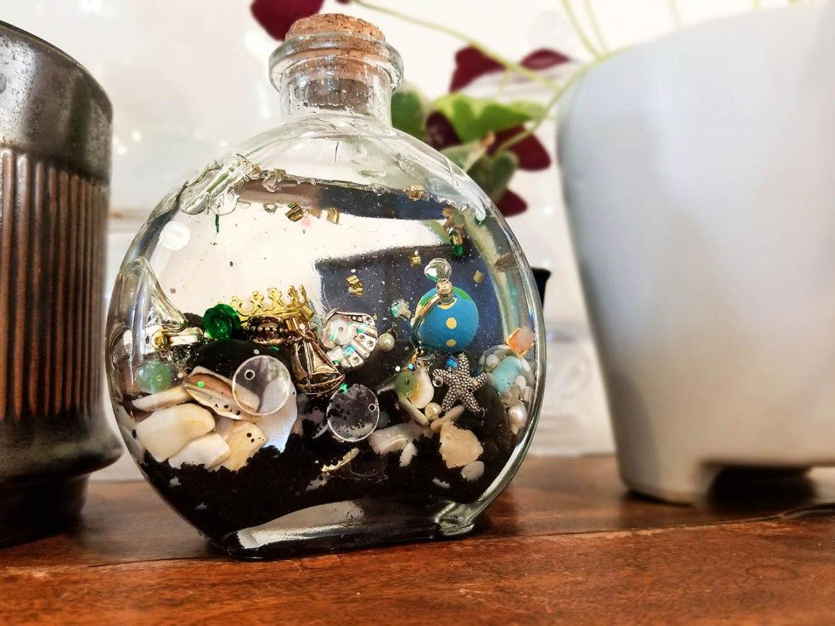 DIY Ariel's Grotto in a Bottle
