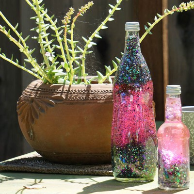 DIY Sleeping Beauty Three Good Fairies Glitter Snow Globe in a Bottle